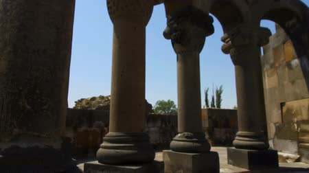 instorten : Columns and ruins of Zvartnots Cathedral, Armenian church, unesco heritage