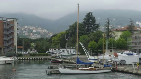 liguria : Private yachts docked in Italian Spezia port, active tourism at Ligurian sea