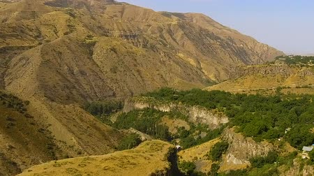hegyoldalban : Green trees on slopes of Armenian hills, beautiful nature geology.