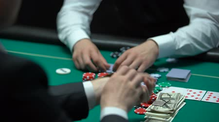 fortunate : Addicted poker player going all-in, betting chips, money and property, reckless