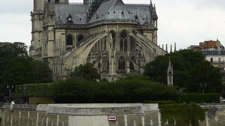 templomtorony : East side of Notre-Dame cathedral, gothic style architecture, panorama view