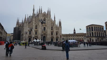 milan : MILAN, ITALY - CIRCA MAY 2018: Sightseeing in the city. Famous Duomo di Milano cathedral, gothic architecture, Italian landmark, travel