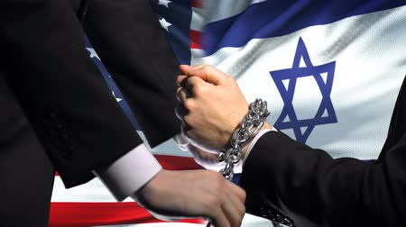 Иерусалим : United States sanctions Israel, chained arms, political or economic conflict