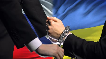 penas : Russia sanctions Ukraine, chained arms, political or economic conflict, business