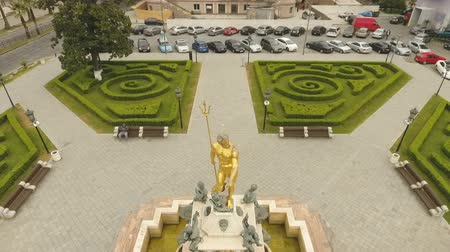 nettuno : Statue of Neptune and its fountain in front of Batumi Drama Theater, Georgia