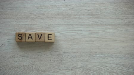 frase : Save dream phrase made of cubes, motivation to move on and never give up Vídeos