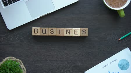 expansion : Business strategy phrase made of cubes, company development, service expansion