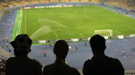 chagrin : Unhappy soccer fans disappointed by match result, national football team loss Stock Footage