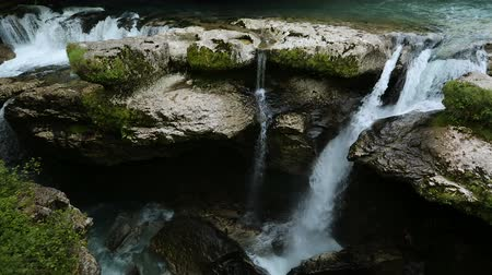 affluent : National park of Kutaisi, beautiful waterfalls in rocky mountains, Georgia