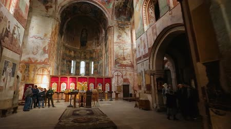 rahip : Excursion inside Gelati Monastery, breathtaking mosaics and frescos on walls