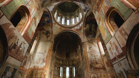 obra prima : Entrance to Gelati Monastery, fantastic paintings on walls, ancient medieval art