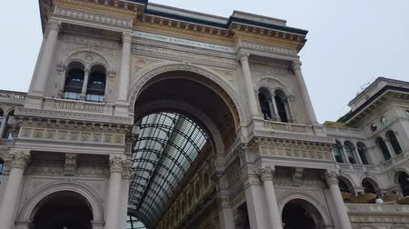 milan fashion : Famous Galleria Vittorio Emanuele, Milan sightseeing, ancient architecture