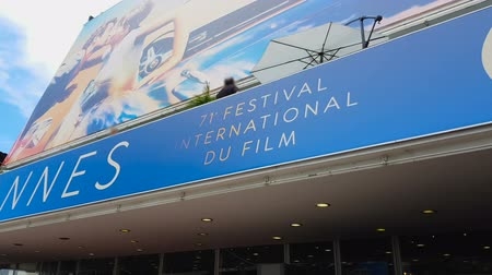 prestiž : Facade of Palace of Cannes film festival, disclosure of new unknown talents