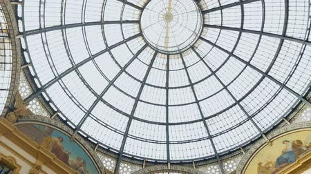milan fashion : Italian Galleria Vittorio Emanuele II, beautiful interior, historical attraction