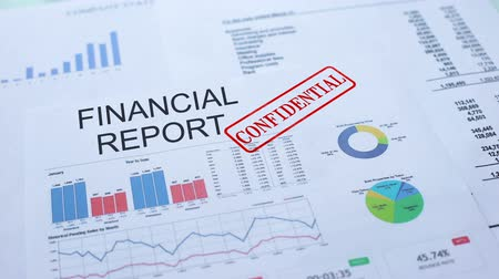 ganhos : Financial report confidential, stamping seal on official document, statistics Vídeos