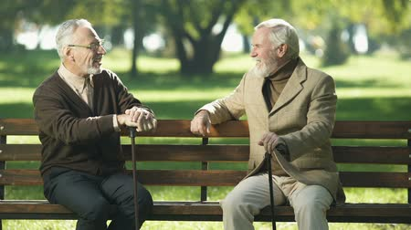 související : Senior man suffering age-related Alzheimer disease, old friends talking in park