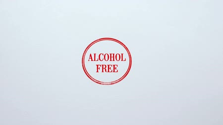 sealed : Alcohol Free seal stamped on blank paper background, beverages production