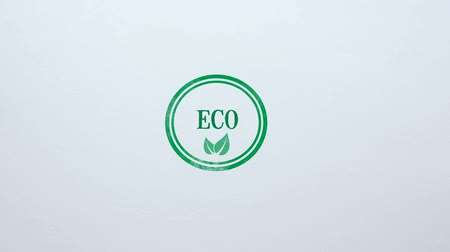 aprovado : Eco seal stamped on blank paper background, organic food and goods, lifestyle