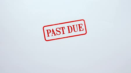 makbuz : Past Due seal stamped on blank paper background, late payment, exceed time limit