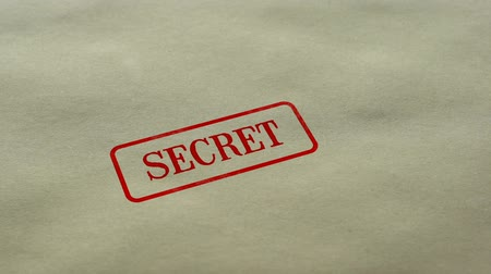 titkos : Secret seal stamped on blank paper background, restricted access, closed