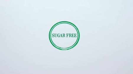 adoçante : Sugar Free seal stamped on blank paper background, dieting, healthy nutrition