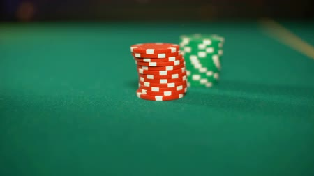 сочетание : Professional poker players making bets on sport tournament, winning strategy