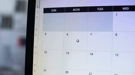 semanal : Business person planning meeting, making note in online calendar, appointment