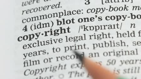 определение : Copyright, definition on english vocabulary, legal rights protection, publishing