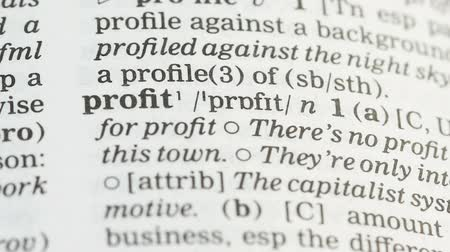 terminology : Profit, definition in english vocabulary, financial literacy, income planning