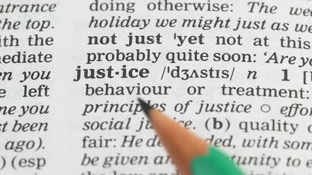 transcription : Justice definition in english dictionary, fair and lawful relations among people