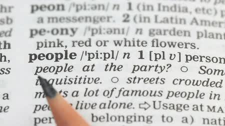 transcription : People word definition in english dictionary, country population, democracy