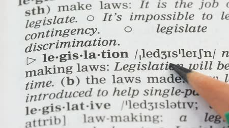 transcription : Legislation, english vocabulary page opened, laws making and obeying, politics