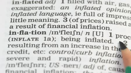 книжный магазин : Inflation, pencil pointing word in english vocabulary, budget decreasing, debt