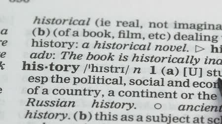 terminology : History, definition in english dictionary, countries state during time, subject