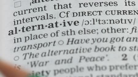 alternatives : Alternative word definition in dictionary, different energy sources, environment