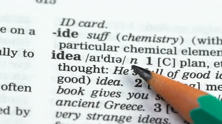dicionário : Idea word in english vocabulary, startup development, revolutionary discovery