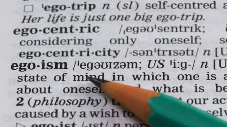 terminology : Egoism word in english dictionary, person qualities, self-confidence, narcissism
