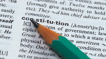 terminology : Constitution word in english vocabulary main state principals granting democracy