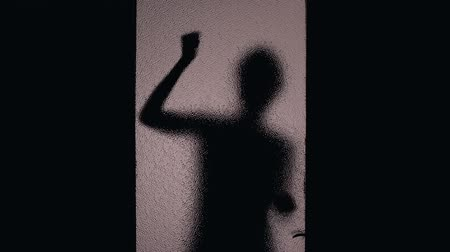 serial : Helpless female shadow knocking door, maniac taking victim away, harassment