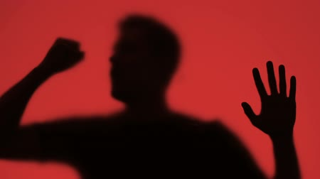 damp : Desperate male trying to escape fire, emergency panic, gas asphyxiation victim