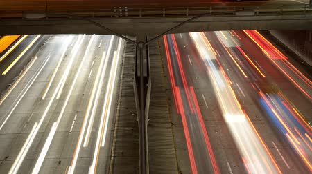 havai : Time Lapse Pan - Overhead View of Traffic on Busy 10 Freeway in Downtown Los Angeles California