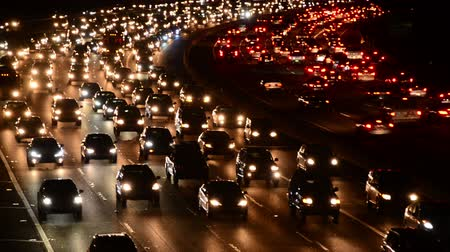 motor vehicle : Busy 101 Freeway in Los Angeles Stock Footage