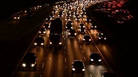 snelwegen : Drukke 101 Freeway in Los Angeles