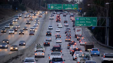 motorkerékpár : Busy Freeway in Los Angeles