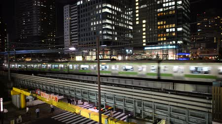 kabel : Japan Rail Train Passes By Wideo