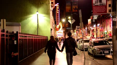 tiyatro : Hollywood Blvd Los Angeles Stok Video