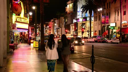 filmes : Hollywood Blvd Los Angeles Stock Footage