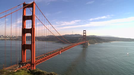 Time Lapse of the Golden Gate Bridge San Francisco Stock mozgókép