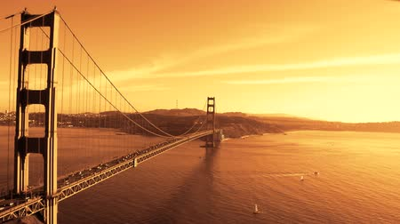 goldene : Panning Zeitraffer von der Golden Gate Bridge in San Francisco Videos