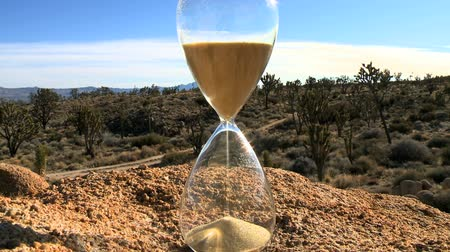 glas : Time-lapse van een Hour Glass
